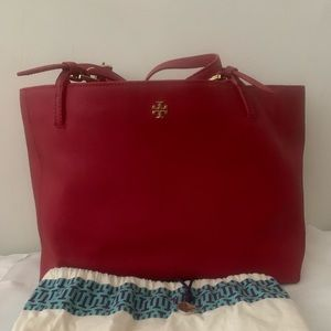 Tory Burch Red York Buckle tote ( large)